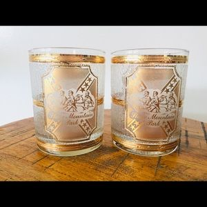 Vintage Culver Bar Glasses Set Of 2 Old Fashioned